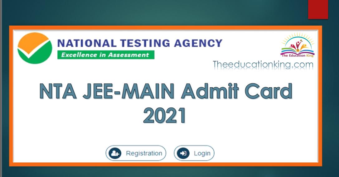 NTA JEEMAIN Admit Card 2021