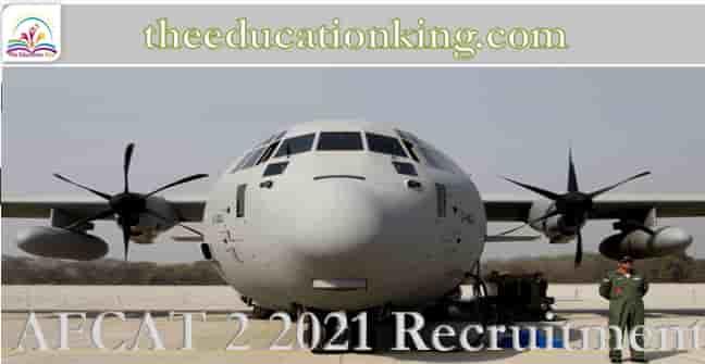 AFCAT 2 2021 Recruitment