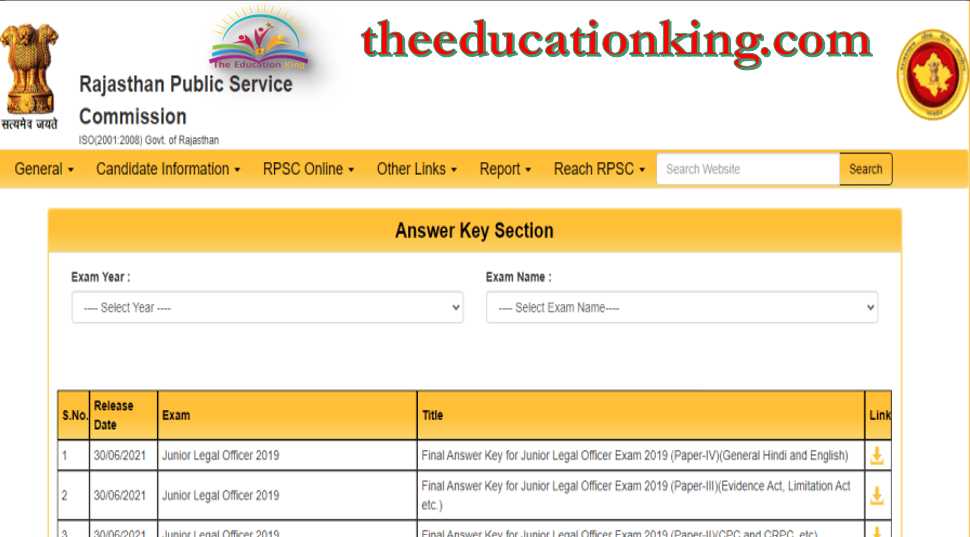 RPSC Forest Range Officer Answer Key 2021 (Out)