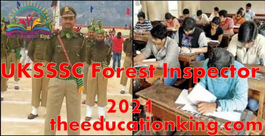 UKSSSC Forest Inspector 2021