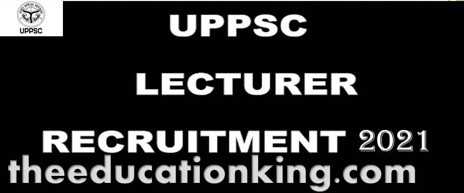 UPPSC Lecturer Govt Inter College